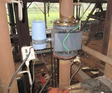 Monitoring flow of water in casting section using Electromagnetic Flowmeter