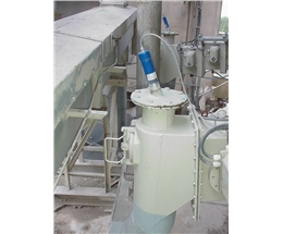 Flow rate for bag filling machine after air slide